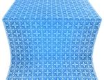Lyubava silk (rayon brocade) (blue/silver)