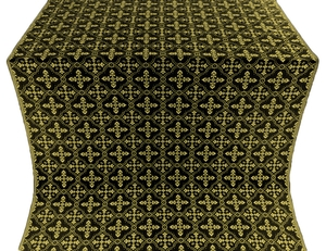 Lyubava silk (rayon brocade) (black/gold)