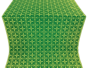 Lyubava silk (rayon brocade) (green/gold)