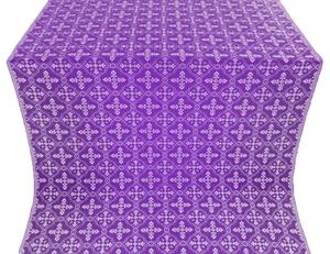 Lyubava silk (rayon brocade) (violet/silver)