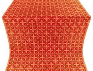 Lyubava silk (rayon brocade) (red/gold)