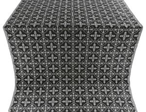 Lyubava silk (rayon brocade) (black/silver)