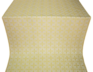 Lyubava silk (rayon brocade) (white/gold)