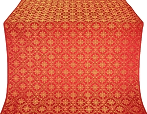 Lavra metallic brocade (red/gold)