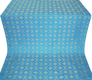 Lavra silk (rayon brocade) (blue/gold)