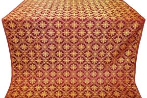 Lavra silk (rayon brocade) (claret/gold)