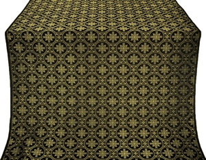 Lavra silk (rayon brocade) (black/gold)