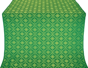 Lavra silk (rayon brocade) (green/gold)