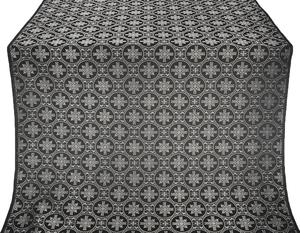 Lavra silk (rayon brocade) (black/silver)