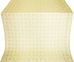 Lavra silk (rayon brocade) (white/gold)
