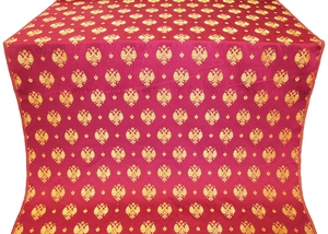 Russian Eagle metallic brocade (claret/gold)