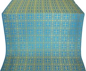 Elizabeth silk (rayon brocade) (blue/gold)