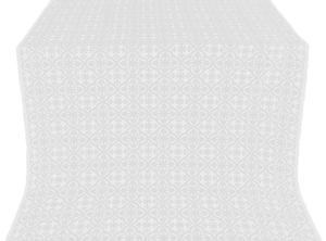 Elizabeth silk (rayon brocade) (white/silver)