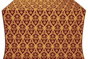 Korona metallic brocade (claret/gold)