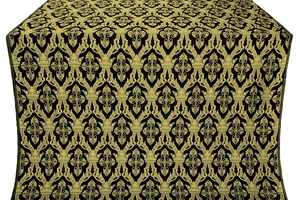 Korona silk (rayon brocade) (black/gold)