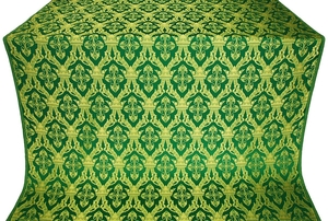 Korona silk (rayon brocade) (green/gold)