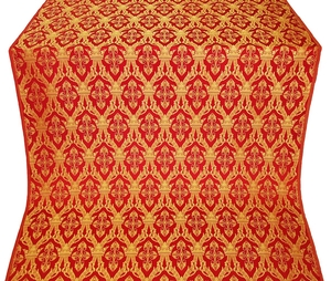 Korona silk (rayon brocade) (red/gold)