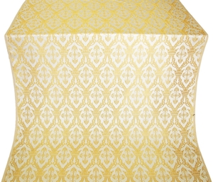 Korona silk (rayon brocade) (white/gold)