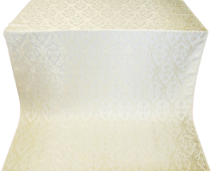 Korona silk (rayon brocade) (white/silver)