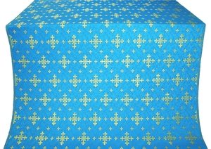 Belozersk metallic brocade (blue/gold)