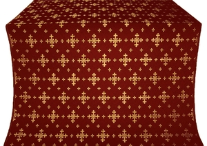 Belozersk metallic brocade (claret/gold)