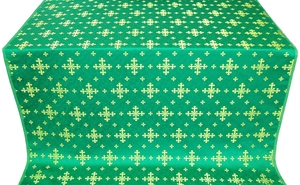 Belozersk metallic brocade (green/gold)