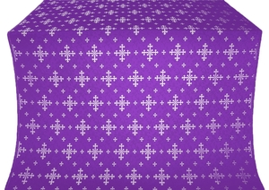 Belozersk metallic brocade (violet/silver)