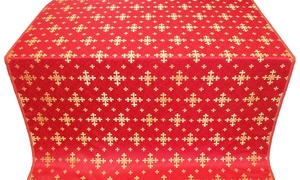 Belozersk metallic brocade (red/gold)