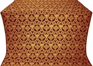 Czar's Cross metallic brocade (claret/gold)