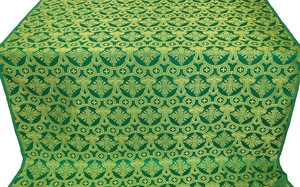 Czar's Cross metallic brocade (green/gold)