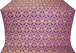 Czar's Cross metallic brocade (violet/gold)