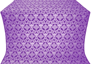Czar's Cross metallic brocade (violet/silver)