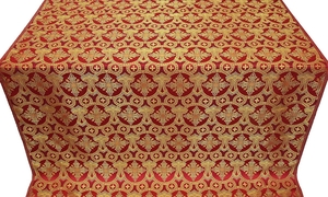 Czar's Cross metallic brocade (red/gold)