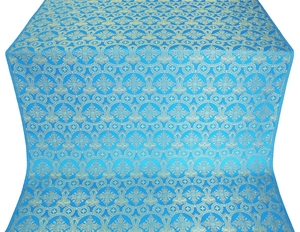 Czar's Cross silk (rayon brocade) (blue/gold)