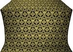 Czar's Cross silk (rayon brocade) (black/gold)