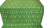 Czar's Cross silk (rayon brocade) (green/gold)