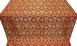 Czar's Cross silk (rayon brocade) (red/gold)