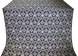 Czar's Cross silk (rayon brocade) (black/silver)