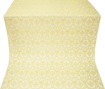 Czar's Cross silk (rayon brocade) (white/gold)