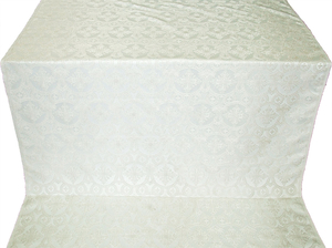 Czar's Cross silk (rayon brocade) (white/silver)