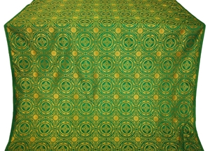 Corinth metallic brocade (green/gold)