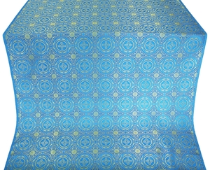 Corinth silk (rayon brocade) (blue/gold)