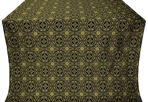 Corinth silk (rayon brocade) (black/gold)