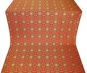 Corinth silk (rayon brocade) (red/gold)