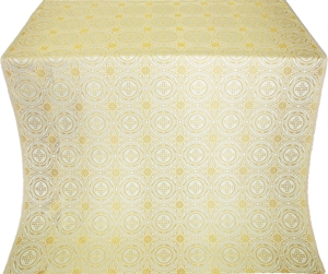 Corinth silk (rayon brocade) (white/gold)