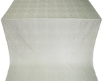 Corinth silk (rayon brocade) (white/silver)