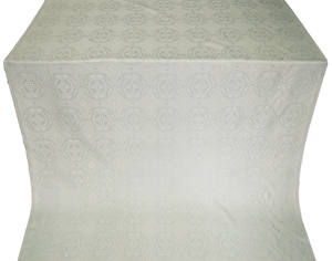 Corinth silk (rayon brocade) (white/silver)