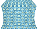 Vera silk (rayon brocade) (blue/gold)