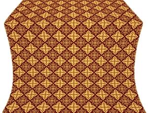 Vera silk (rayon brocade) (claret/gold)