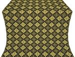 Vera silk (rayon brocade) (black/gold)